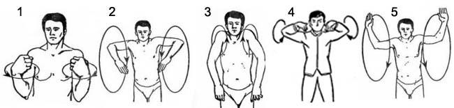Вращения и махи для верхнего плечевого пояса.